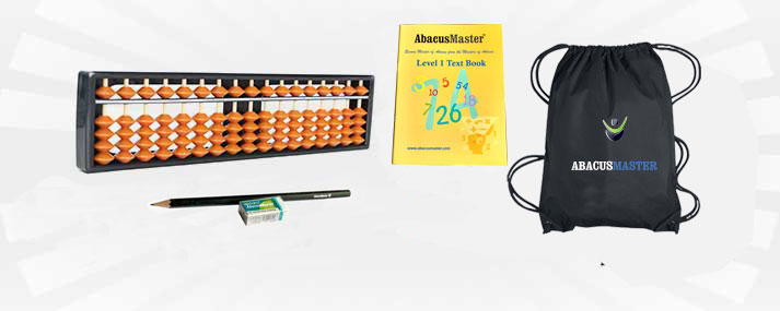 Materials or student kit for Abacus learning