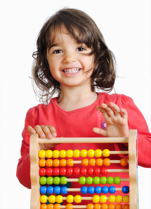 Kid With Abacus Rod